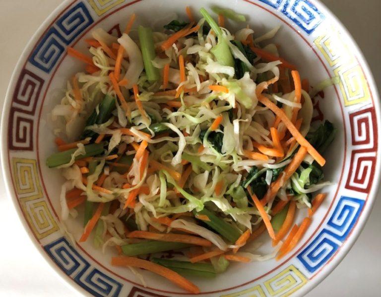 ミールキットふわとろたまごのマヨ唐揚げ丼の野菜