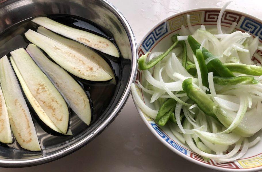 蒸し鶏の南蛮和えの野菜の材料