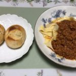 bolognese-pasta-set-and-honey-tonyu-pan