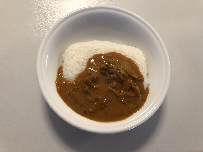 ビーフストロガノフとCO-OP岩手特別栽培米ひとめぼれごはん