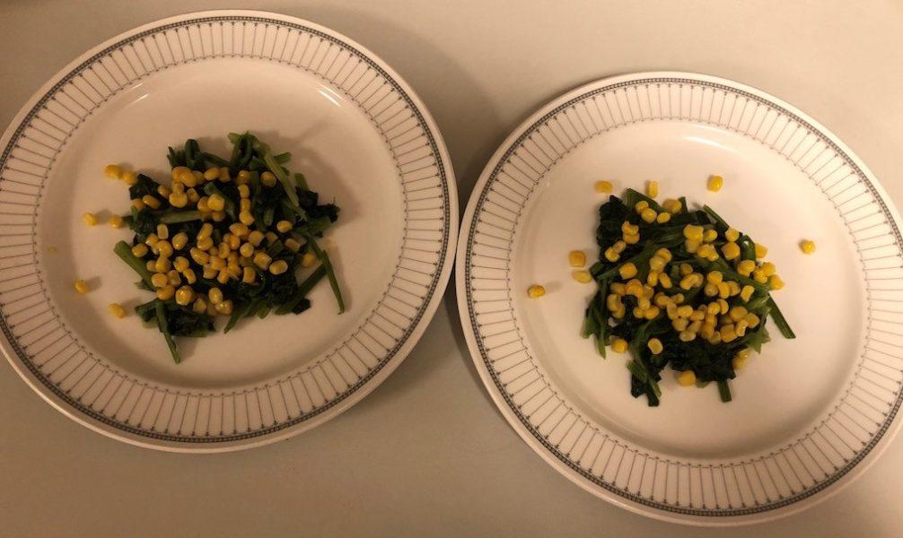 カレイのムニエルの野菜