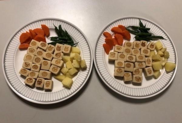 アンパンマンの高野豆腐1袋と野菜