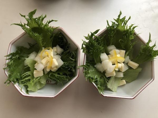 ニシダやの柚子大根を使ったサラダ