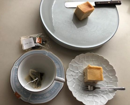 ロザージュとクリームチーズケーキ
