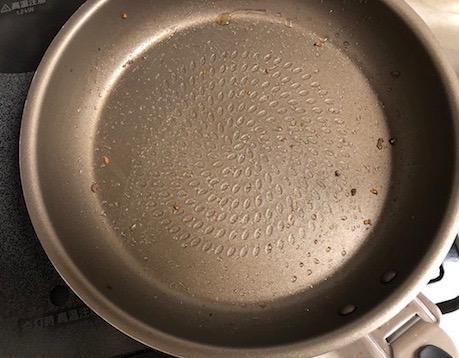 調理した後のPENTAフライパン