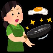 PENTAフライパンで卵調理